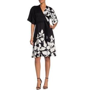 NWT Trina Turk Magnolia Printed Waist Tie Dress